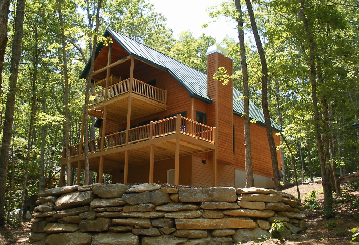 Tucker talks with dogwoods retreat luxury pet friendly for Asheville cabin rentals pet friendly
