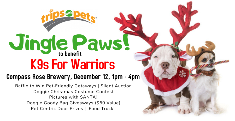 Jingle Paws to Benefit K9s For Warriors